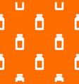medicine jar pattern seamless vector image vector image