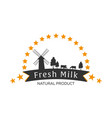 milk emblem labels logo and design elements vector image