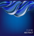 modern fluid gradient colorful flow composition vector image vector image