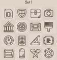 Outline Icons Set 1 vector image vector image