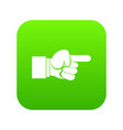 pointing hand gesture icon digital green vector image