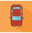 red car top view transport design vector image