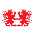 royal lion heraldry heraldic logo mascot vector image