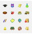 School icons set pop-art style vector image vector image
