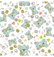 seamless animal pattern vector image vector image
