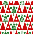 Seamless christmas pattern with christmas trees vector image vector image