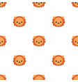seamless pattern with cute lion for design web vector image vector image