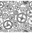 seamless pattern with different gears vector image