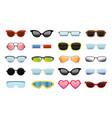 set different sun glasses vector image