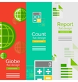 Set of flat design universal business concepts vector image vector image