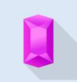 shiny tourmaline icon flat style vector image