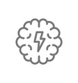 simple brain and mind line icon symbol and sign vector image vector image