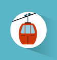 Sky cable car transport vehicle image vector image
