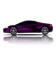 sport car purple color white background ima vector image vector image