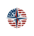 stylish creative american compass logo design vector image vector image