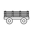 trailer on wheels for transportation of farm vector image