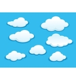 White clouds set vector image vector image