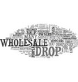 wholesale dropshippers scams revealed text word vector image vector image
