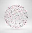 Wireframe polygonal element 3D sphere with lines vector image vector image