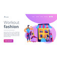 workout fashion concept landing page vector image