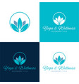 yoga and wellness logo and icon vector image vector image