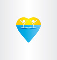 people in water heart icon vector image