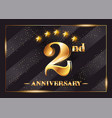 2 year anniversary celebration logo 2nd vector image