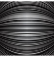 Abstract grey warped stripes background vector image vector image