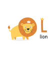 alphabet letter l and lion vector image vector image
