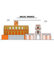arles roman and romanesque monuments line travel vector image