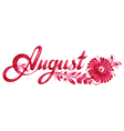 august the name of the month