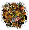 autumn cartoon doodles vector image