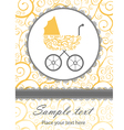 Baby shower card vector | Price: 3 Credits (USD $3)