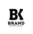 bk letter logo vector image vector image