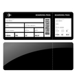 Black boarding card vector image vector image