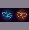 blue and orange neon mask vector image