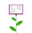 Book Grows Like Flower Isolated on White Ba vector image vector image