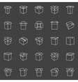 Box line icons vector image