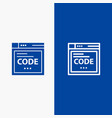 browser internet code coding line and glyph solid vector image