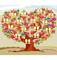 concept folk style family tree vector image