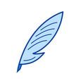 creative writing line icon vector image