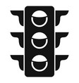 crosswalk semaphore icon simple style vector image vector image