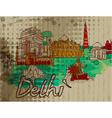 delhi doodles vector image vector image