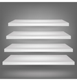 Emrty Shelves vector image