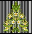 exotic christmas tree plumeria mirror style vector image vector image