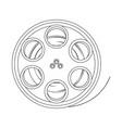 film stripe reel on movie cinema negative vector image vector image