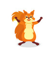 flat of red squirrel with wide vector image vector image