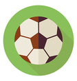 flat sports ball soccer football circle icon vector image vector image