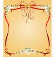 Floral decorative frame vector image vector image