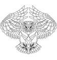 flying owl outline vector image